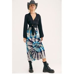 💫 Free People | Serious Swagger Tie Dye Skirt